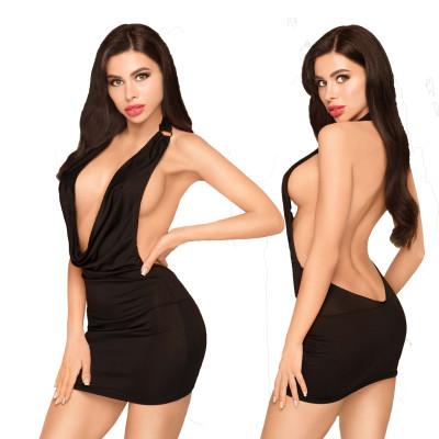 Μαύρο Μίνι Φόρεμα με στρίνγκ Penthouse Heart Rop