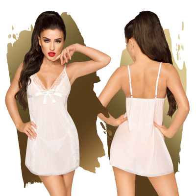 Penthouse Casual Seduction Babydoll with String White