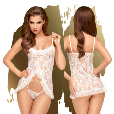 Penthouse Flawless Love White Babydoll