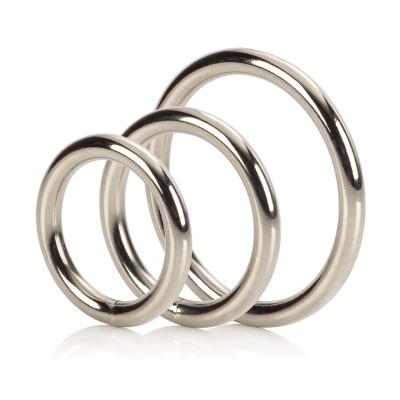 Σετ 3 Αλουμινένιων Δαχτυλιδιών Πέους CalExotics