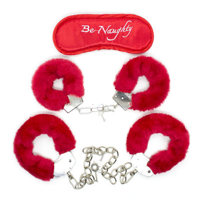 Naughty Toys Be Naughty Cuffs Set with Blindfold