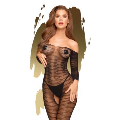 Penthouse Dreamy Diva Sheer Bodystocking Black XL