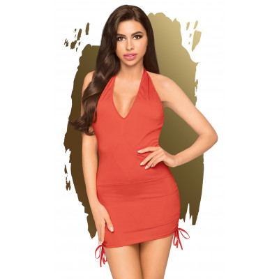 Penthouse Earth-Shaker V-neck Mini Dress Red