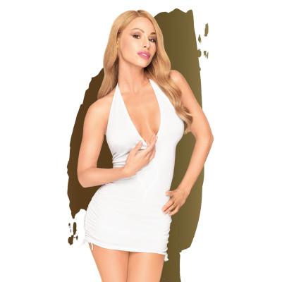 Penthouse Earth-Shaker V-neck Mini Dress White