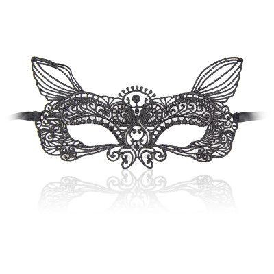 Naughty Toys Black Embroidered Eye Mask