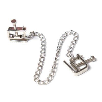 Naughty Toys Stimulating Nipple Clamps with Chain
