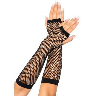 Leg Avenue Rhinestone Net Arm Warmers