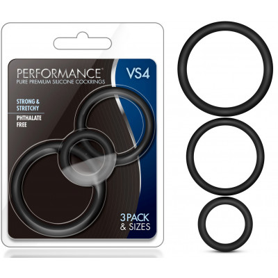 PERFORMANCE VS4 Silicone Stretchable Penis Ring SET of 3 pcs