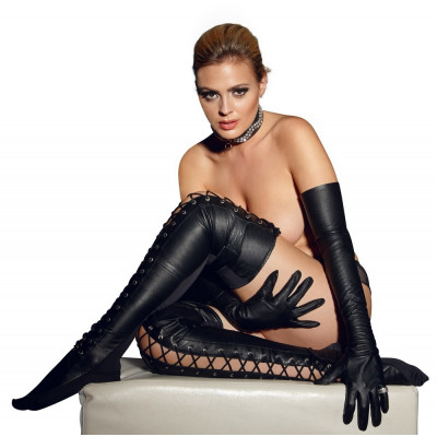 Leather Thigh-high Stockings L/XL
