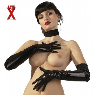 Black Latex Gloves for Him and for Her