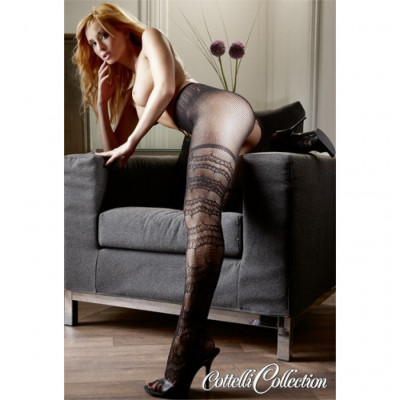 Black Crotchless fishnet Tights