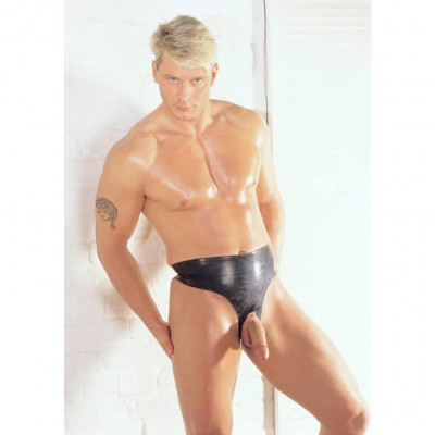 Latex Peephole male brief by Shaun Sloane