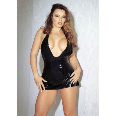 Sharon Slone Latex Mini Dress