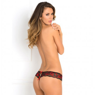 Rene Rofe Black Crotchless Thong
