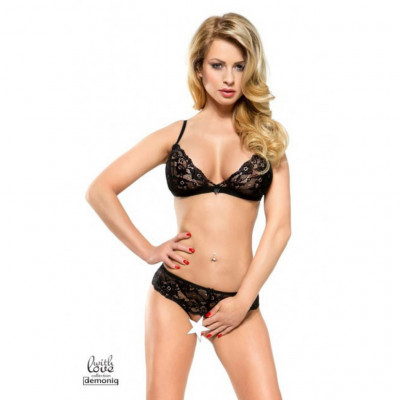 Demoniq Stella Black Lace Bra Set