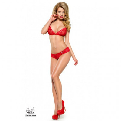 Demoniq Stella Red Lace Bra Set