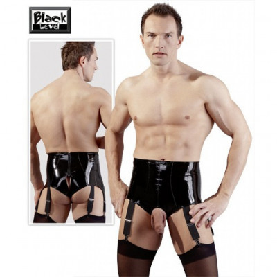 Suspender Belt vinyl Pants