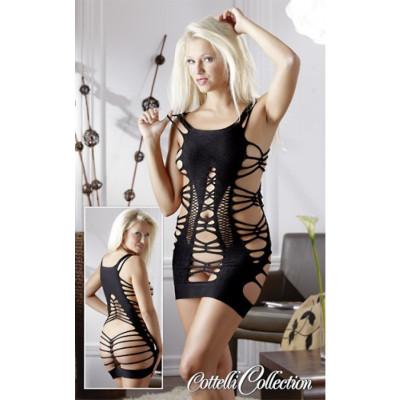 Σέξι μίνι μαύρο φόρεμα χωρίς ραφές