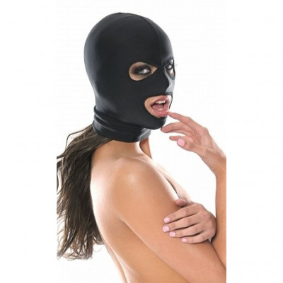 Fetish Fantasy Spandex three Hole black Hood