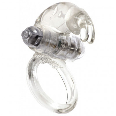 Rabbit Vibrating Cock Ring Clear