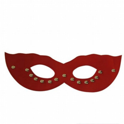 Red sexy leather face mask