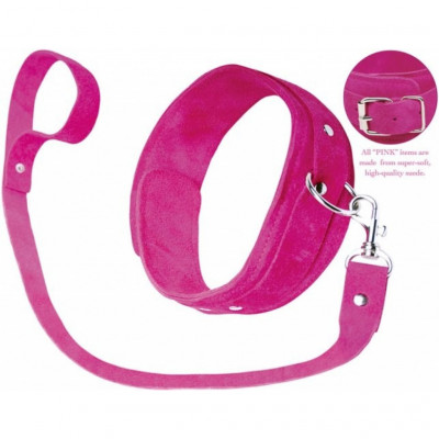 Pink Leash and Collar By Fetish Fantasy