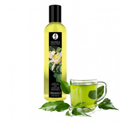 Shunga Massage Oil Organic Green Tea 250ml