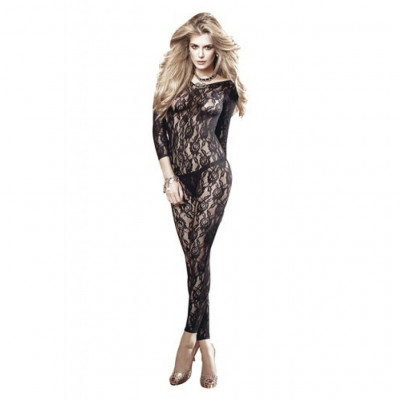 Flower Lace Long Sleeve CatSuit