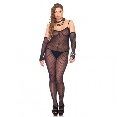 Leg Avenue Mini Daisy Lace Bodystocking