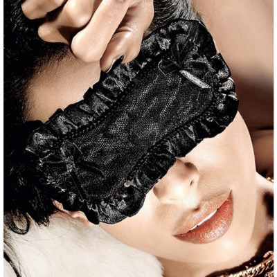 Black Satin Lace Sleep Mask