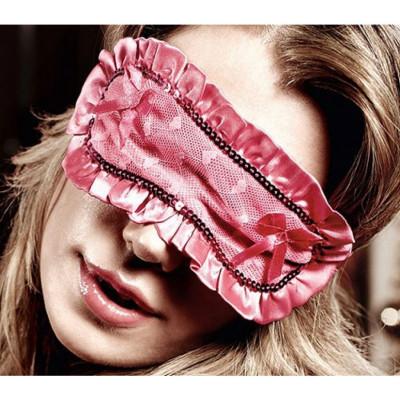 Playful Pink Satin Eye Mask
