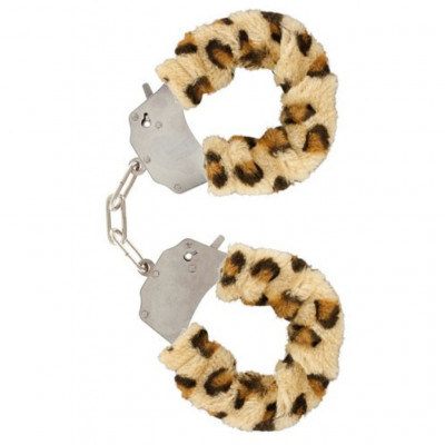 Leopard Furry Metal Handcuffs