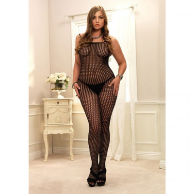 Seamless Crochet Bodystocking Plus Size