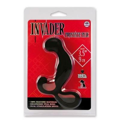 Silicone Prostate Invader Plug 8cm Black