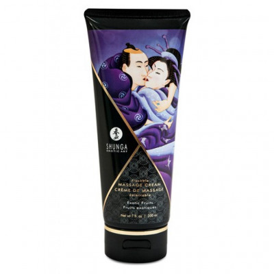 Shunga Massage Cream Exotic Fruits Flavor 200ml