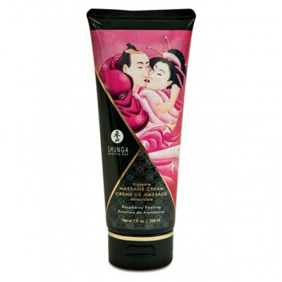 Shunga Kissable Massage Cream Raspberry Feeling 200ml