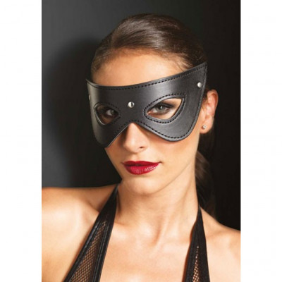 Leather Fantasy Cat Eye Mask One Size Black