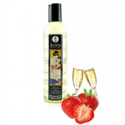 Shunga Romance Sparkling Strawberry Wine Massage Oil 250ml