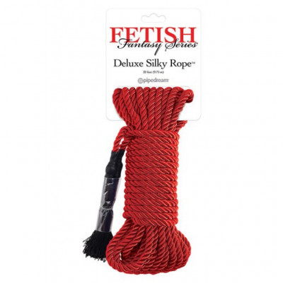 Deluxe Silky Rope Red 10 meters