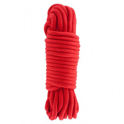 Hidden Desire Bondage Rope Red 10m