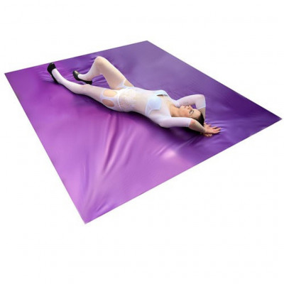 Vinyl Bed Sheet Purple 200x230