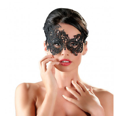 Black Embroidered Eye Mask