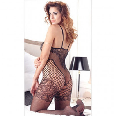 Lace Style Crotchless Catsuit