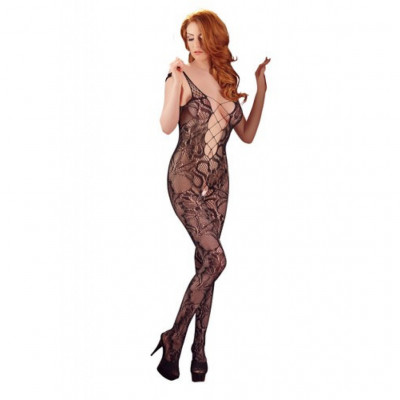 Flower Patterned Lace Catsuit