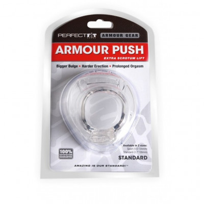 Armour Push Cockring Standard Size 38mm Clear