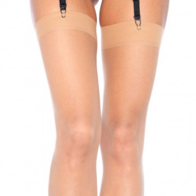 Nude Sheer Thigh High Stockings