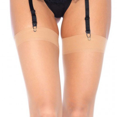 Plus Size Sheer Thigh High Stockings Nude
