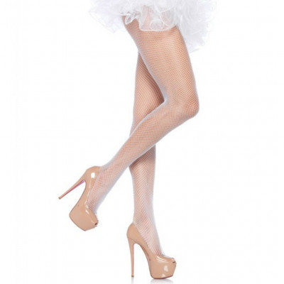 Leg Avenue Fishnet Tights White