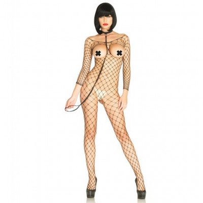 Open Cup Bodystocking with Choker