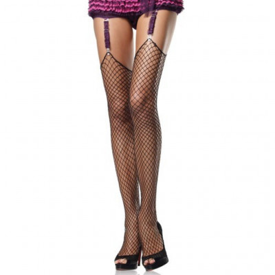 Plus Size Black Industrial Net Stocking